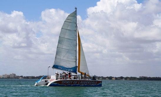 Enjoy 50' Cruising Catamaran For Rent In Fort Lauderdale