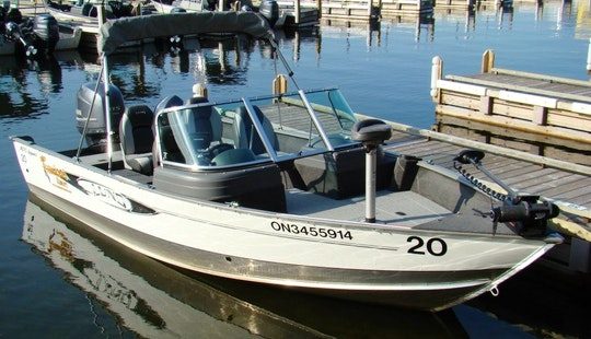 19' Fishing Boat Rental & Guided Trips In Ontario, Canada