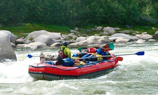 Rafting Trips in the Sayan Oka River, Russia