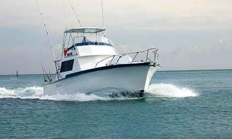 "Aruba Fishing Charter on 42ft ""Mahi Mahi"" Yacth with Captain Peter"
