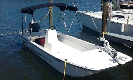 Rent 19' Carolina Skiff With T-top In Fort Myers Beach, Florida