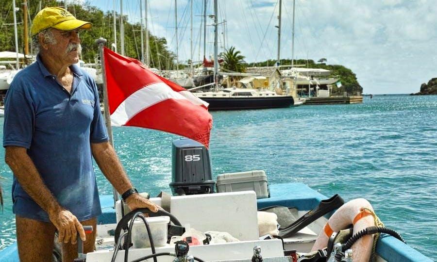 Dive Boat In Antigua