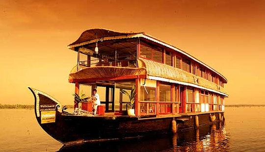 Experience The Alappuzhan River On A Houseboat