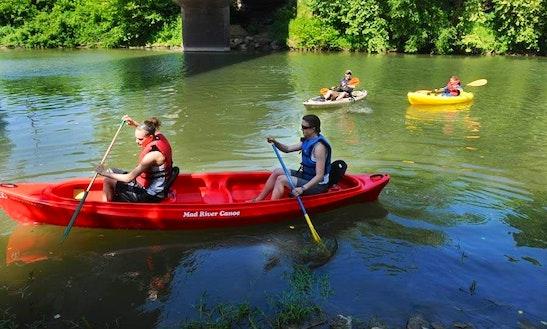 Tandem Kayak Trips In The Shenandoah River