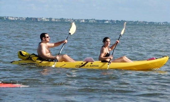 Sit-on-top Double Kayak Rental For All Ages In Key Biscayne, Florida