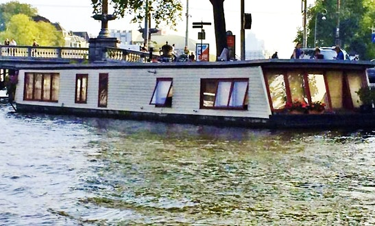 60' Houseboat Charter In Amsterdam, Netherlands