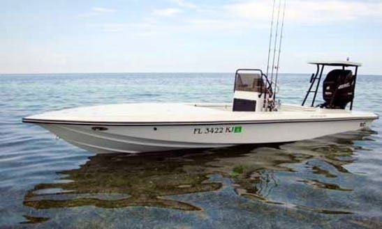 21ft Flats Center Console Boat Fishing Charter In Titusville, Florida