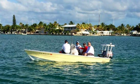 Fishing Charter On 18' Hewes Redfisher Boat In Marathon, Florida