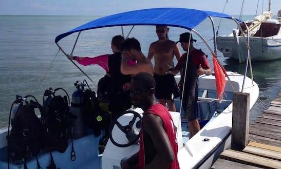 Dive Boat Trips In Caye Caulker, Belize.