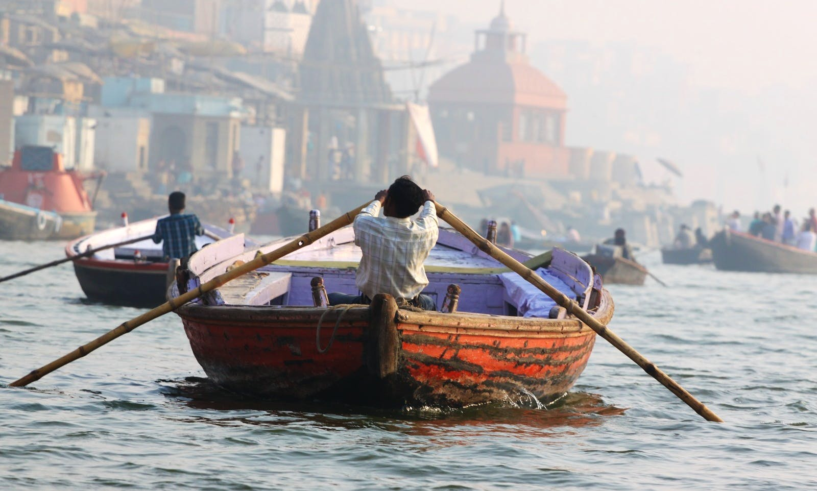Excellent day out on the boat in Varanasi, India