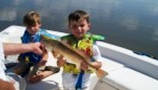 Bass Boat Fishing Charter In Delacroix, Louisiana United States