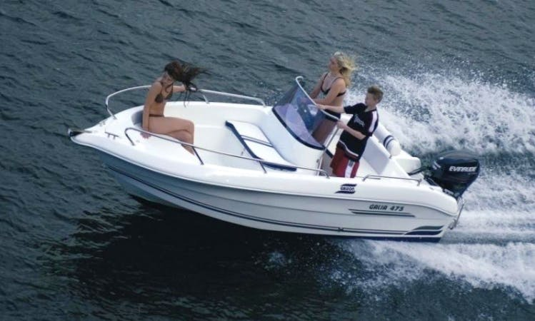 "16ft ""Galia 475"" Bowrider Boat Rental in Sesto Calende, Lombardia"