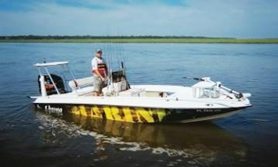 20' Bass Boat Charter In Fernandina Beach, Florida