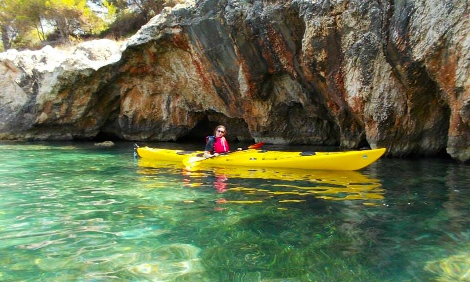 Free Spirited Sea Kayak Adventures on Kefallonia Coast in Greece!