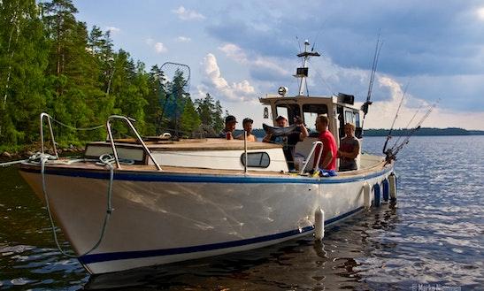 35' Cuddy Cabin Fishing Charter In Savitaipale, Finland