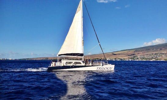 Charter 64ft 'trilogy I' Sailing Catamaran In Lahaina, Hawaii