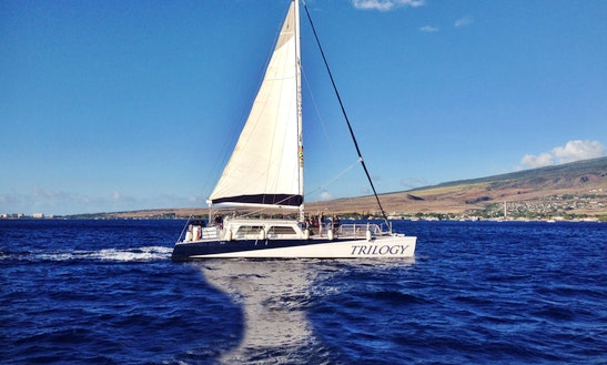 Charter 64ft 'trilogy I' Sailing Catamaran In Lahaina, Hawaii