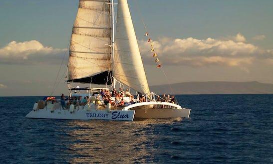 Enjoy Lahaina, Hawaii On 55ft 'trilogy Elua' Sailing Catamaran