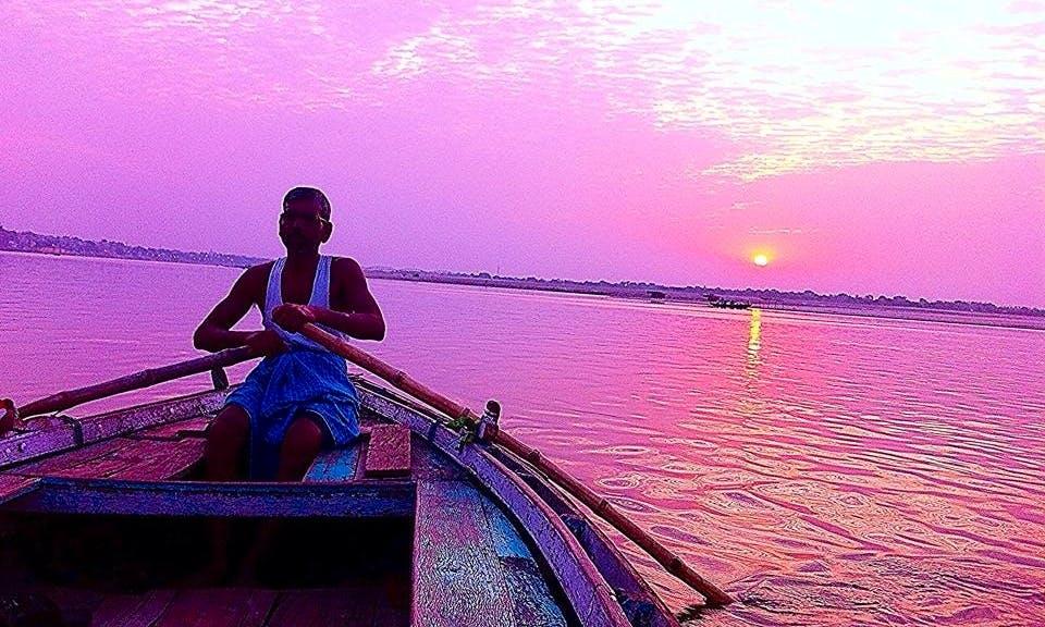 Morning Boat Ride in Varanasi, India