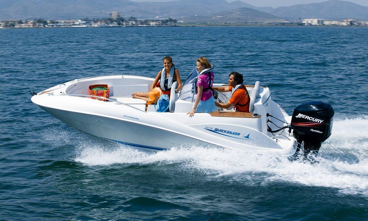 Quick Silver 505 Commander Boat Charter in Ferrara