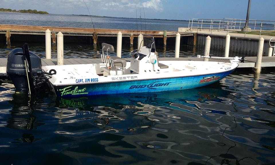 24ft Center Console Boat Fishing Charter In Rockledge, Florida