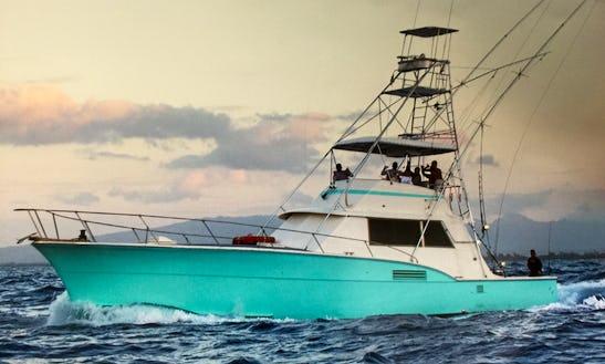 53' Sport Fisherman Fishing Boat In Honolulu, Hawaii