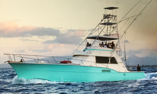53' Sport Fisherman Fishing Boat In Honolulu, Hawaii