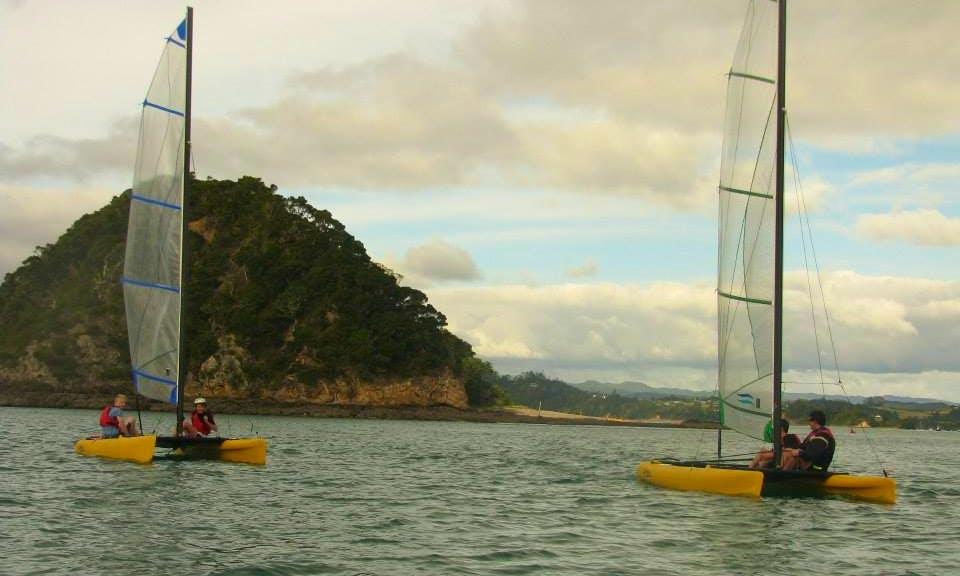 Enjoy 16' Beach Catamaran Rental in Paihia, Northland