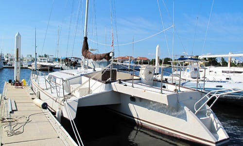 """40' Trimaran """"The Come Along"""" Charter in Rum Point, Cayman Islands"""