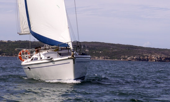 Sailing Sydney Harbour On 'cutting Loose' Sailboat