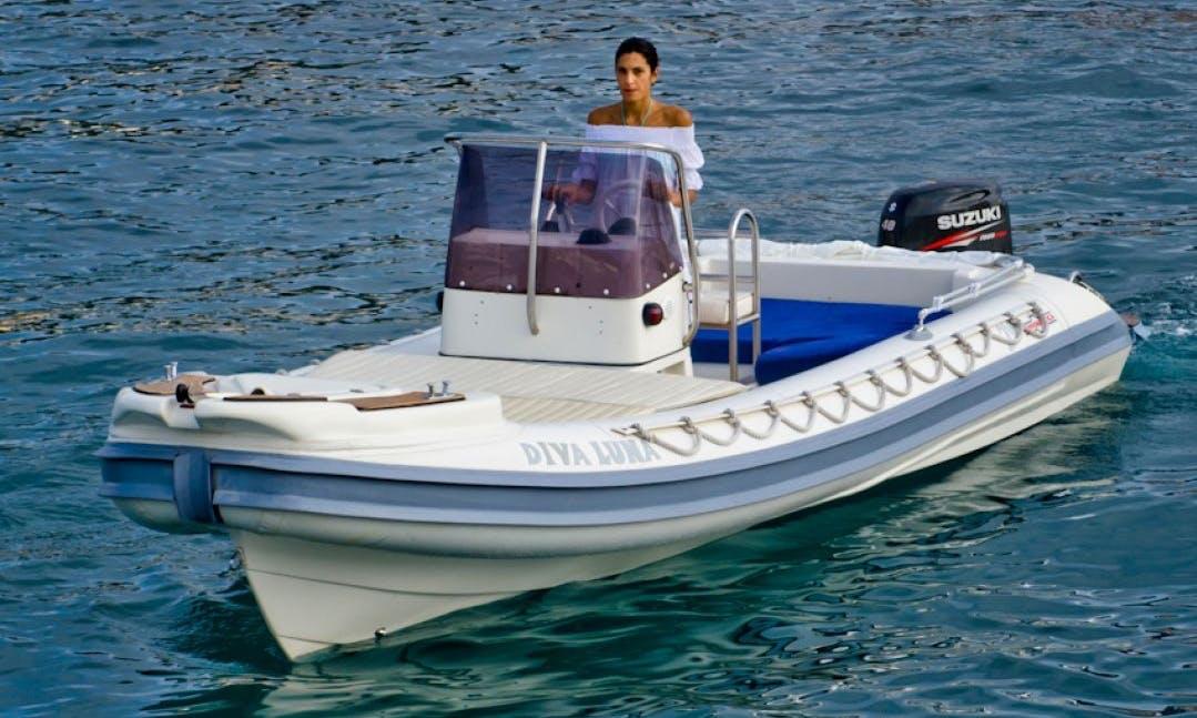 Gommonautica G65 40hp RIB Rental in Ponza