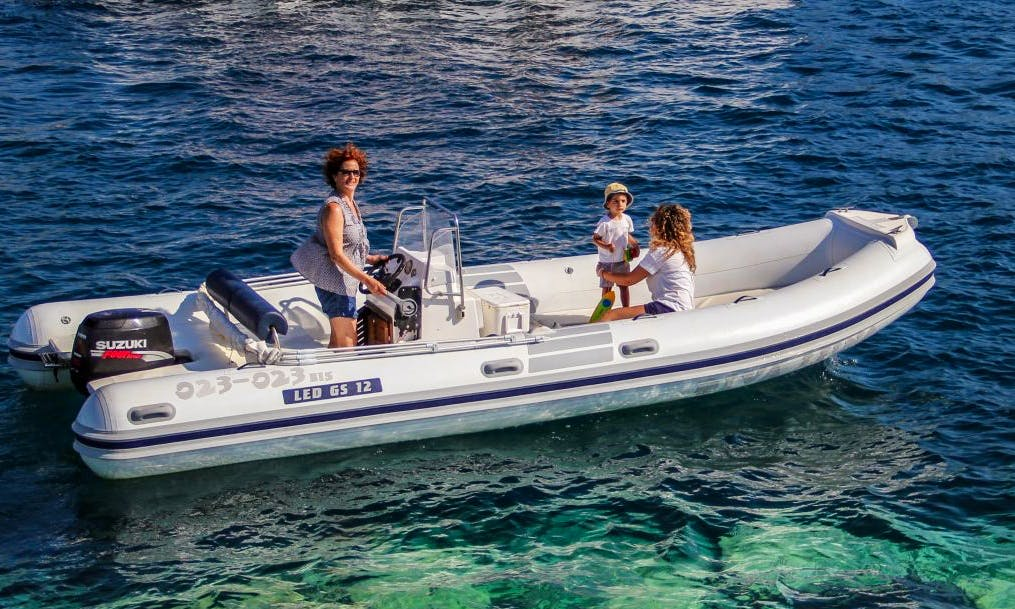 Led-620 RIB Rental in Ponza