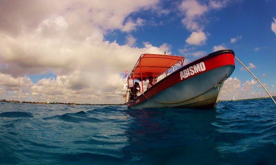 Dive Boat in San Jose Viejo, Mexico