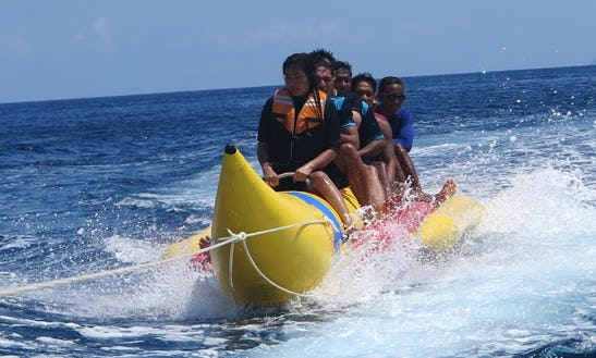 Unforgettable Banana Boat Rides In Kuta Selatan Beach, Indonesia
