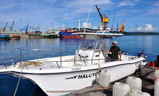 Come Fishing On 'halcyon Iii' In Port Blair, India