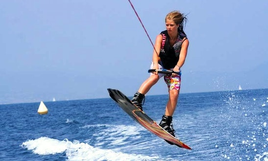 Wakeboarding Rides With Motor Boat In Bali, Indonesia