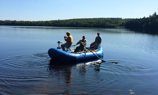 Bass Boat Fishing Charter In Northwest Piscataquis, Maine