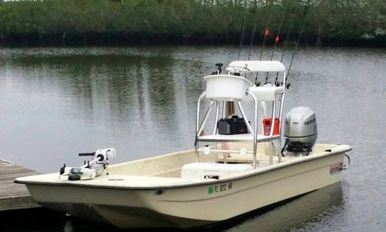 24' Carolina Skiff V Center Console Fishing Trips In Spring Hill, Florida
