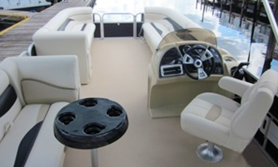 Pontoon For 12 Person Ready To Cruise Around Deland Lakes