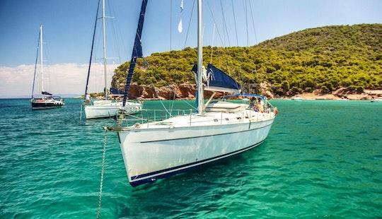 Sailing Yacht In Greece