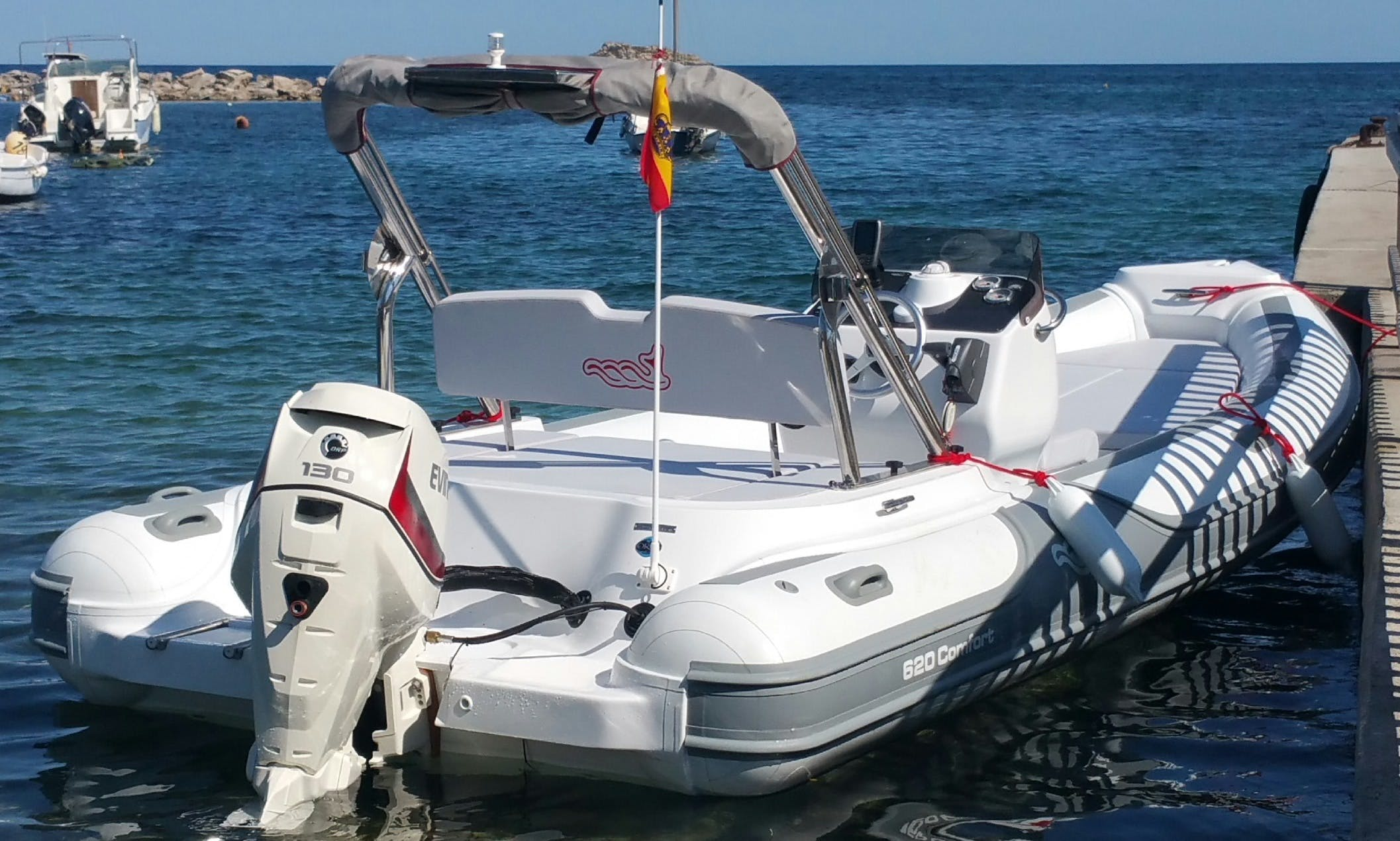 20' Semi-Rigid Inflatable Boat for 12 Person Available to Rent in Ibiza, Spain