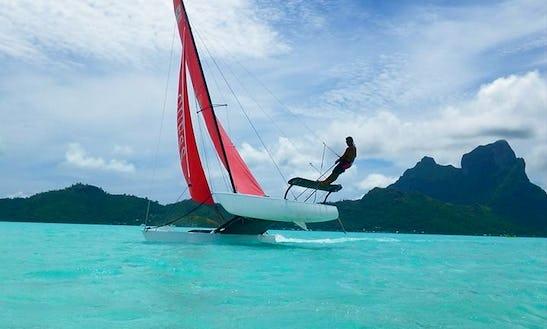 Fun Sailing Around Bora Bora In French Polynesia