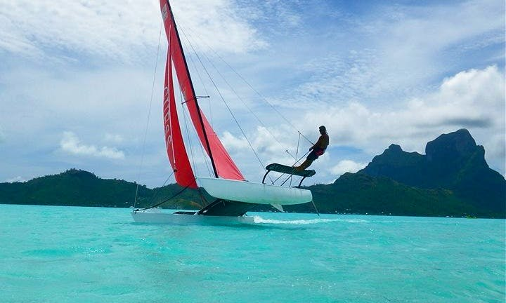 Fun Sailing Around Bora Bora In French Polynesia