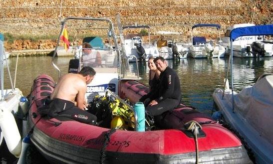 Dive Boat In Ciutadella De Menorca
