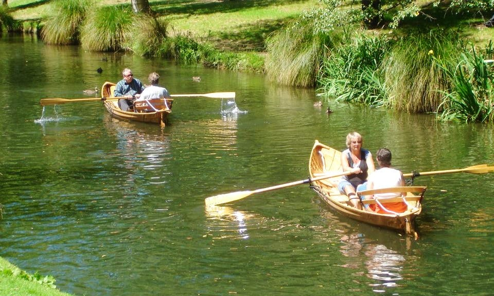 Wooden Canadian Canoe for Hire in Christchurch
