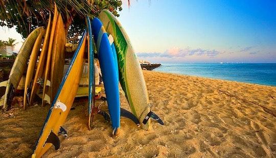 Surfing On Kuta Beach In Bali