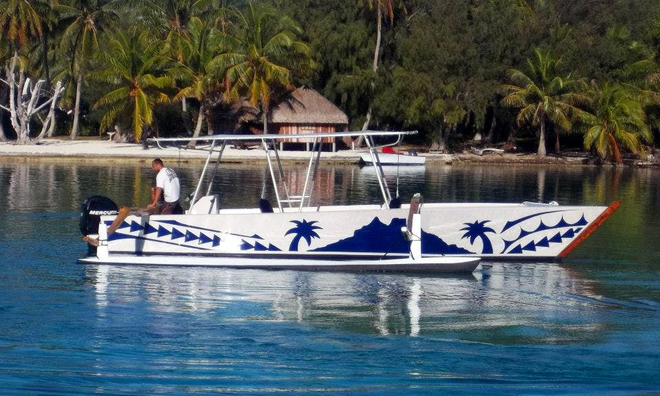 Enjoy the Best Spots inside the Lagoon of Bora Bora on a Traditional Boat