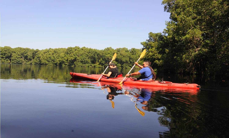Sea Kayak Trips in El Cacao Lagoon