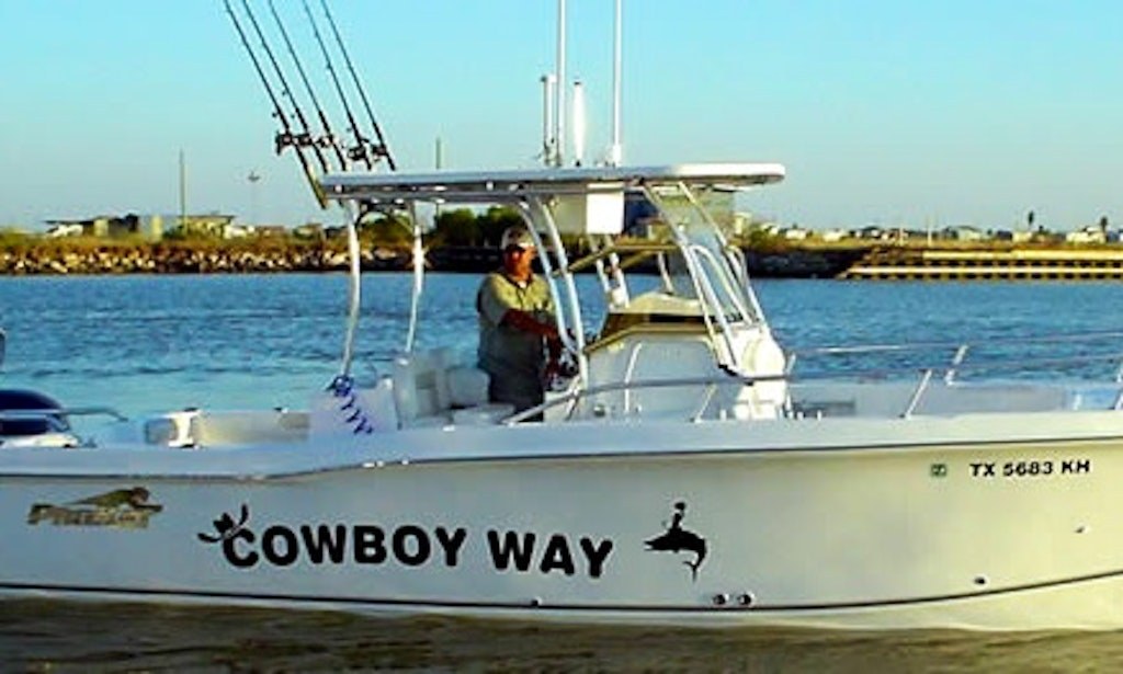 Galveston fishing charter on 29ft cowboy way prokat for Galveston fishing party boats