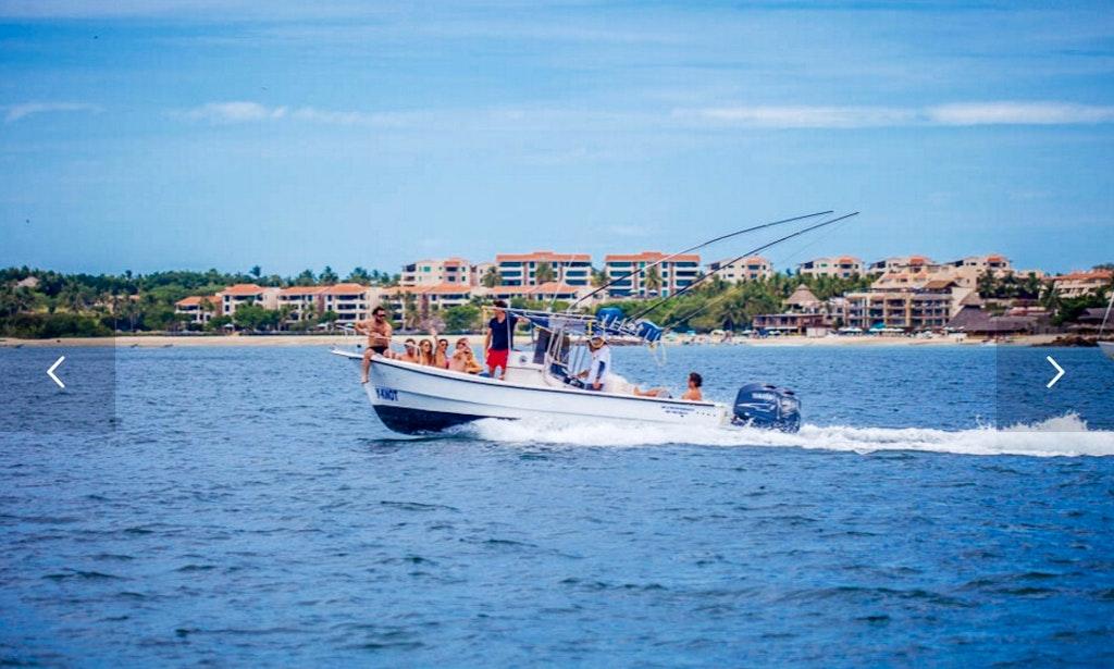 28ft y knot super panga boat fishing charter in punta de for Punta mita fishing